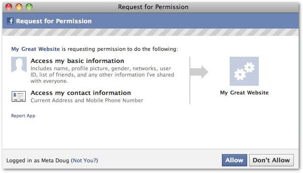 Data Breach of Facebook Privacy Permissions Facebook Permission Chris Kavanagh