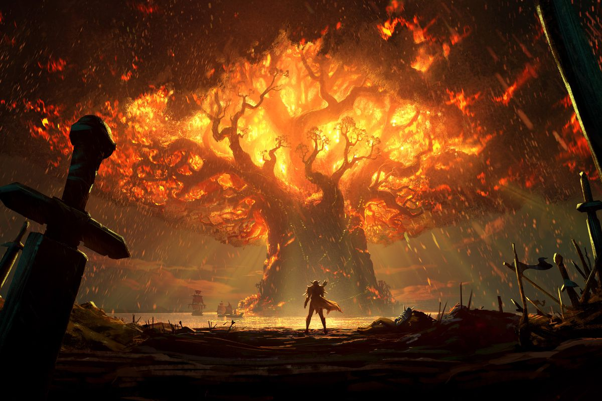 Teldrassil is on fire